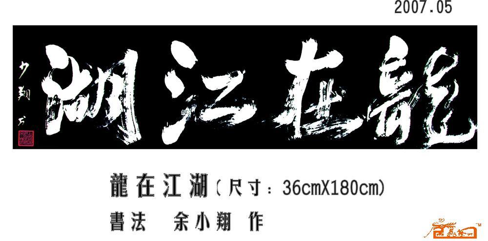 名家 余小翔 书法 - 龙在江湖