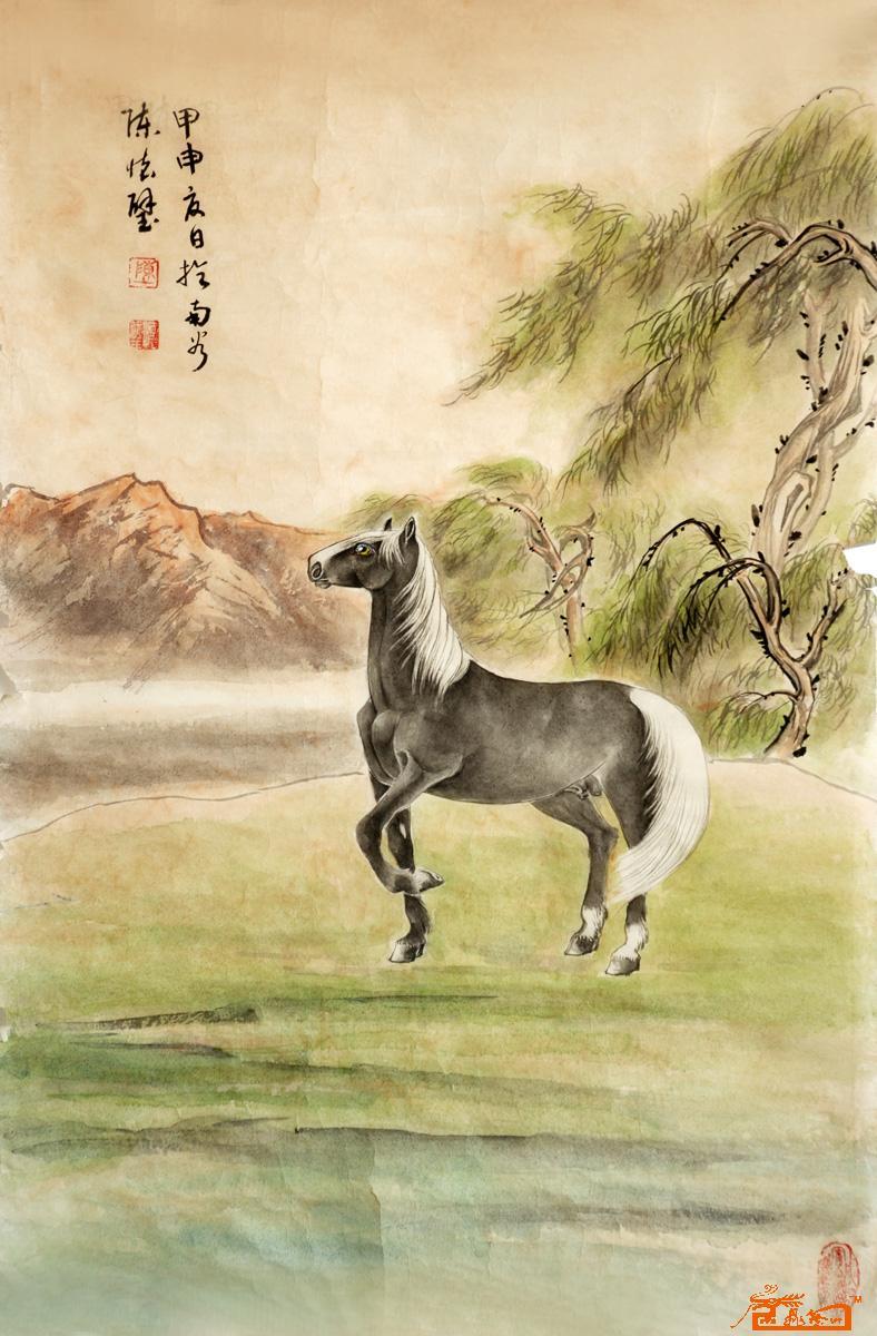 国画名家 陈怀璧 - 马.工笔
