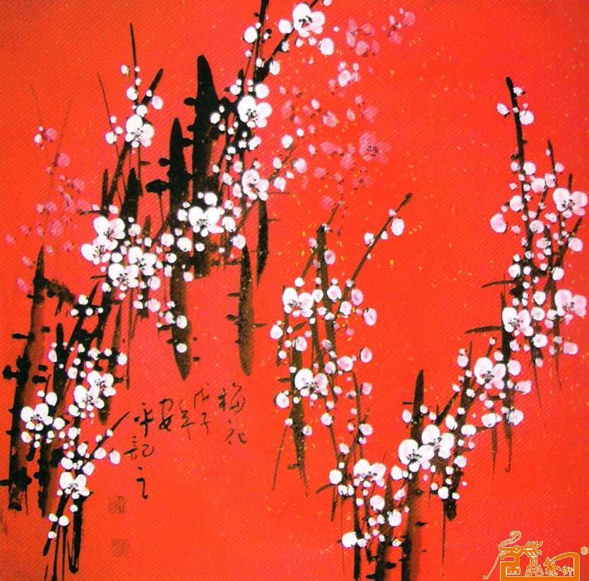 红色梅花简笔画