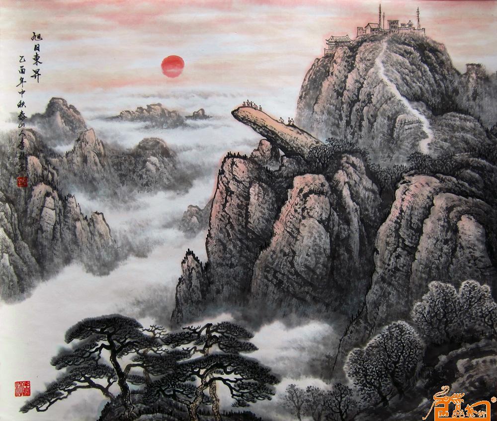 李林-旭日东升-淘宝-名人字画-中国书画服务中心,中国图片