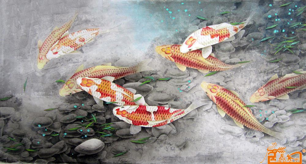 橡皮章素材鲤鱼