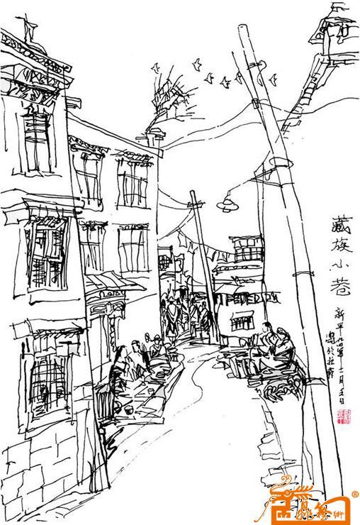 藏族小巷-周新平-淘宝-名人字画-中国书画交易中心,,.